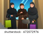 a vector illustration of muslim ... | Shutterstock .eps vector #672072976