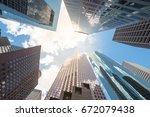 Upward View Of Skyscrapers...