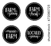 labels with text organic  farm  ... | Shutterstock .eps vector #672080725