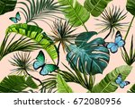 beautiful seamless vector... | Shutterstock .eps vector #672080956