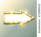 empty arrow banner with lamps | Shutterstock . vector #672085012