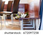 funeral and mourning concept  ... | Shutterstock . vector #672097258