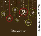 Christmas card with snowflakes - stock vector