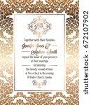 vintage baroque style wedding... | Shutterstock .eps vector #672107902