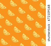pattern with oranges.hand drawn ... | Shutterstock .eps vector #672109168