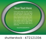 template green  silver and... | Shutterstock .eps vector #672121336
