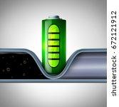 battery technology disrupting... | Shutterstock . vector #672121912