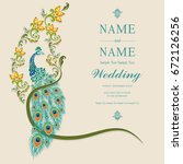 wedding invitation card... | Shutterstock .eps vector #672126256