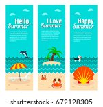travel and vacation vector... | Shutterstock .eps vector #672128305