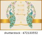 wedding invitation card... | Shutterstock .eps vector #672133552