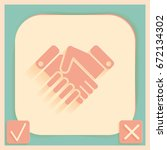 shaking hands icon  handshake.... | Shutterstock .eps vector #672134302