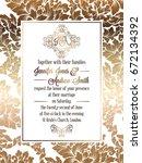 vintage baroque style wedding... | Shutterstock .eps vector #672134392
