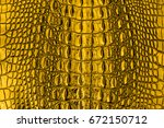 Gold Leather Crocodile Texture...