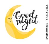 baby print vector with moon and ... | Shutterstock .eps vector #672152566