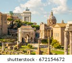 View Of The Antique Roman City...