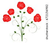 silhouette of a rose on a white ... | Shutterstock .eps vector #672156982