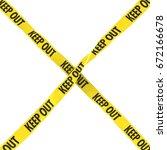 keep out barrier tape yellow... | Shutterstock . vector #672166678