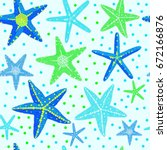 starfish dot different color... | Shutterstock .eps vector #672166876