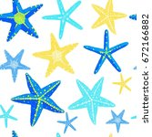 starfish different color vector ... | Shutterstock .eps vector #672166882