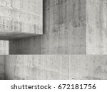 abstract concrete interior with ...   Shutterstock . vector #672181756