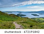 a hike up conic hill part of... | Shutterstock . vector #672191842