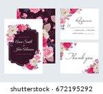 wedding floral template... | Shutterstock .eps vector #672195292
