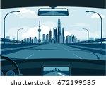 shanghai skyline | Shutterstock .eps vector #672199585