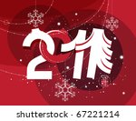 abstract christmas ornament... | Shutterstock .eps vector #67221214
