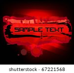 abstract red banner with copy... | Shutterstock .eps vector #67221568