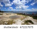 west thumb geyser basin | Shutterstock . vector #672217075
