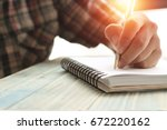 left hand of people  student...   Shutterstock . vector #672220162