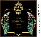 wedding invitation card... | Shutterstock .eps vector #672231526
