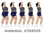 conceptual fat overweight obese ... | Shutterstock . vector #672245155