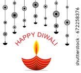 creative happy diwali greeting... | Shutterstock .eps vector #672258376