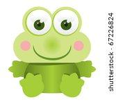 Frog cartoon - stock vector