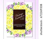 vintage delicate invitation...   Shutterstock .eps vector #672269338