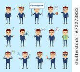 set of businessman characters... | Shutterstock .eps vector #672273832