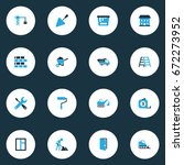 building colorful icons set.... | Shutterstock .eps vector #672273952