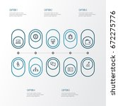 job outline icons set.... | Shutterstock .eps vector #672275776