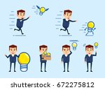 set of businessman characters... | Shutterstock .eps vector #672275812