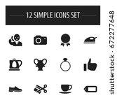 set of 12 editable trade icons. ...