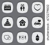 set of 9 editable heart icons....