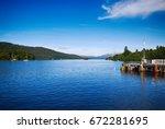 windermere  lake district... | Shutterstock . vector #672281695