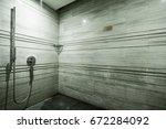 shower room | Shutterstock . vector #672284092