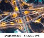 road traffic in city at... | Shutterstock . vector #672288496