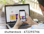 chiang mai  thailand   july 6 ... | Shutterstock . vector #672293746