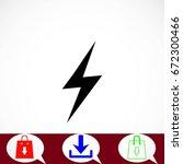 lightning icon vector  flat... | Shutterstock .eps vector #672300466