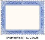 certificate border  scan  | Shutterstock . vector #6723025