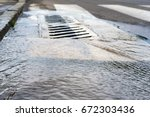 the sewers in the city  repair... | Shutterstock . vector #672303436