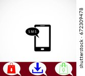 smartphone sms icon  flat...
